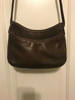 Fossil Womens Dark Brown Pebble Leather Small Purse