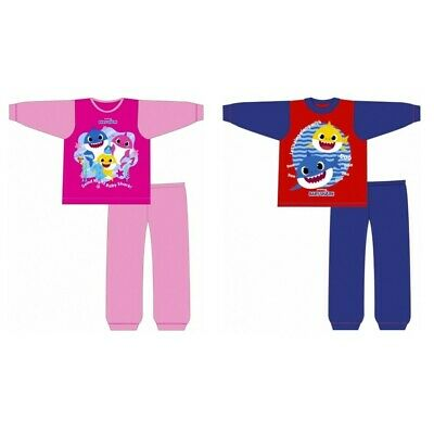 Boys/Girls Baby Shark Toddler Long Pyjamas Pjs Age 1-5 Years