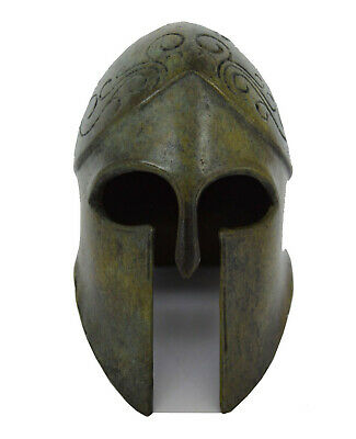 Bronze small Helmet with carvings - Ancient Greek reproduction Artifact