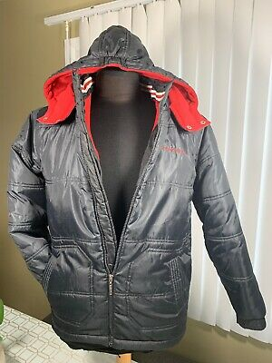 Calvin Klein Boys Winter Black Waterproof Hood Jacket Youth's Size US XL (18-20)
