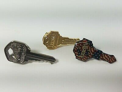 Home Depot Keys Pin Apron - Hat - Lapel Pinback Access Kwikset Flag
