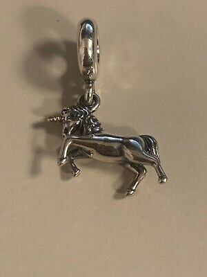 Pandora Unicorn Charm Silver With 14kt Gold Horn #791200 RETIRED. Authentic New.