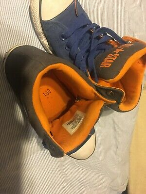 converse all star junior 6 Blue/Gray/Orange padded, great condition, little wear