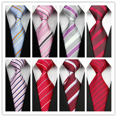 Mens Wedding Formal Party 100% Silk Ties Classic Jacquard Woven Necktie Tie f