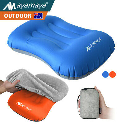 Ayamaya Inflatable Air Pillow Ultralight Portable Hiking Camping Travel W/ Cover