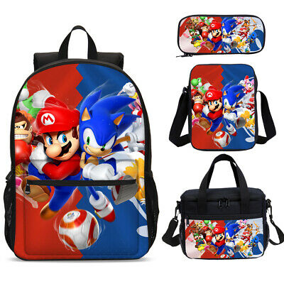 Mario Sonic Game Party School Backpacks Lunch Box Shoulder Bag Pencil Case Lot