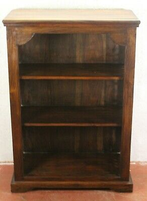 1960s Mahogany Small Open Bookshelves with Metal Grill at the Sides