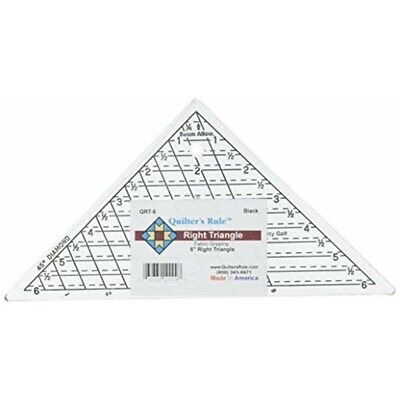 """Quilter's Rule Mini-triangle Quilter's Ruler-6-3/4""""x6-3/4""""x9-1/2"""" - Quilters"""