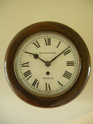 8 inch Fusee Dial Clock, Dipple & Son, Norwich