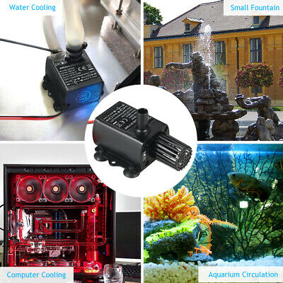 Decdeal DC12V 5W Ultra-quiet Mini Brushless Water Pump Waterproof F4D5