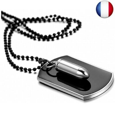 collier homme style militaire