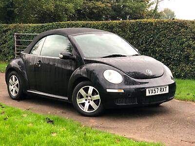 Volkswagen Beetle 1.6 2007 Convertible  Luna full only 54000 miles Black