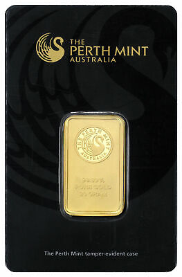Perth Mint 20 Gram .9999 Gold Bar New Sealed With Assay Certificate SKU27301