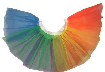 Neon Tutu Rainbow Pride Skirt Adult 80S Fancy Dress Fun Run Hen Party Night