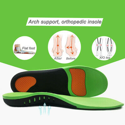 Pair Insole Orthotic Arch Support Shoe Flat Feet Correct Pad Pain Relief Plantar