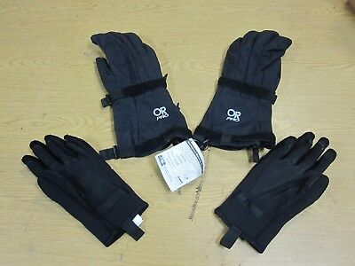 Brand New Outdoor Research Military Black Pro Mod Gloves with Liner XL USGI