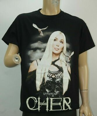 Cher Concert Tshirt Living Proof Farewell Tour 2003 size Large