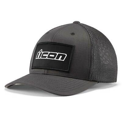 Icon Corp Logo Curved Bill Hat Grey