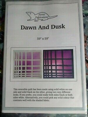 Dawn and Dusk Ferret Fabrications Quilt Pattern only