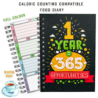 2020 Diet Diary Food Log Easy 7 Wk Winter Xmas- 🤗Calorie Counting Tracking