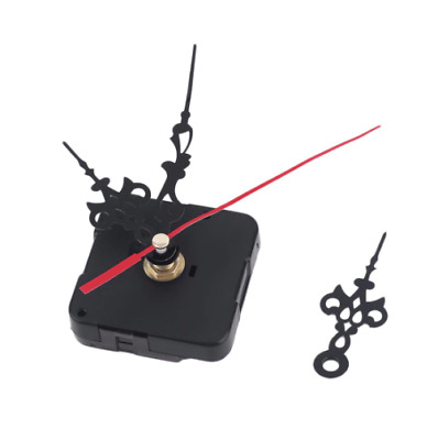 Quartz Wall Clock Movement Mechanism DIY Repair Tool Parts Kit with Black Hands