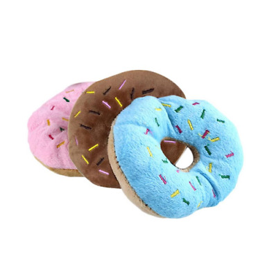 13Cm Pet Chew Donut Play Toys Lovely Pet Dog Puppy Cat Tugging Chew Squeaker