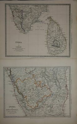 Set of 12 detailled maps of India by Walker 1831-1834