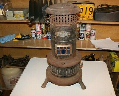 Vintage Antique Kerosene Oil Parlor Heater Metal Old Home Decor