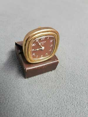Rare Looping 15 Jewels (8) Alarm Mini With Original Leather Case Swiss Made