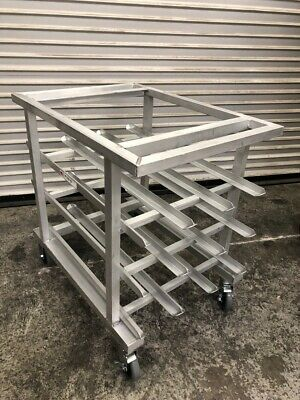 """NEW 35"""" Mobile Can Rack on Wheels (54) #10 or (72) #5 New Age 1235 #3061-OB"""