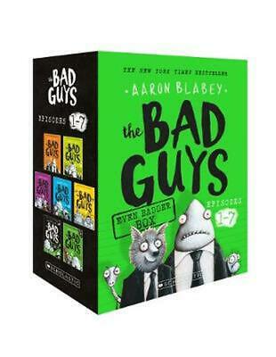 The Bad Guys Even Badder Box (Episodes 1-7) by Aaron Blabey Paperback Book Free