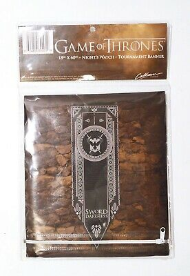 Game of Thrones Night's Watch Tournament Banner - 18 x 60 Inches - NIP