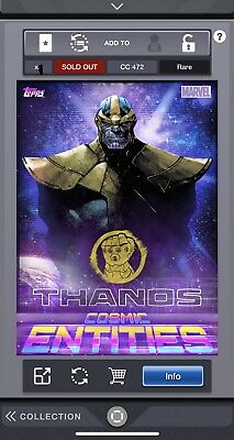 Topps Marvel Collect - Cosmic Entities Thanos & Captain Marvel Award DIGITAL