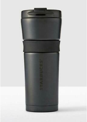 Starbucks Stainless Steel Coffee Tumbler Matte Black 16 oz Double Wall Cup 2017