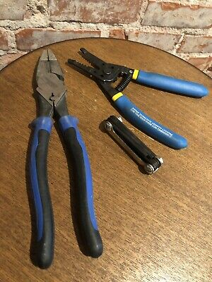 Klein Tools New Linemens Strippers Bundle Lot New Hardly Used