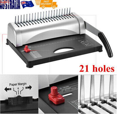 21 Hole 450 Sheets Paper Comb Punch Binder Binding Machine Scrapbook