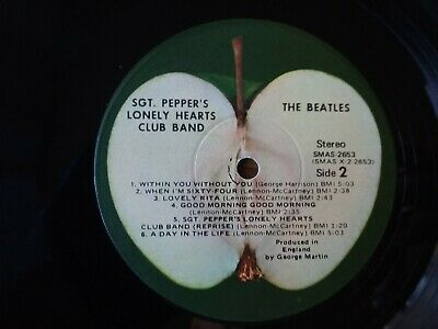 1967 VERY GOOD LP ONLY Beatles-Sgt. Pepper's Lonely Hearts Club Band2653 LP33