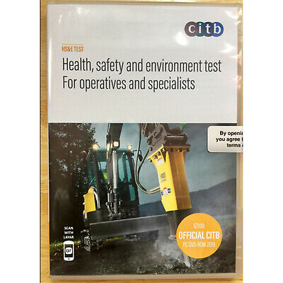 CITB Health Safety Environment Test Operatives Specialists Book DVD2019 GT100/19
