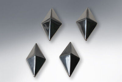 Lambretta Frame Blanking Plugs Pyramid Shape Polished Alloy