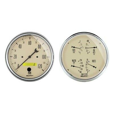 AutoMeter 1803 Antique Beige Air-Core 2 Piece Gauge Kit