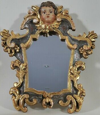Baroque gilded frame with a mirror, 18th century, restored