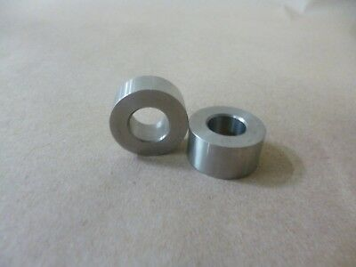 """1/2"""" ID X 7/8"""" OD X 3/8"""" TALL STAINLESS STEEL STANDOFF / SPACER / BUSHING 2Pc"""