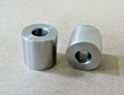 """3/8"""" ID X 7/8"""" OD X 7/8"""" TALL STAINLESS STEEL STANDOFF / SPACER / BUSHING 2Pcs"""