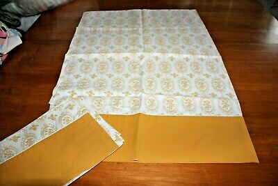 Vintage Pillowcases Cannon Yellow Cameo Roses 100% Cotton Percale Standard Size