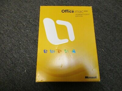 Microsoft Office 2008 Home and Student Edition for Mac W/3 Product Keys