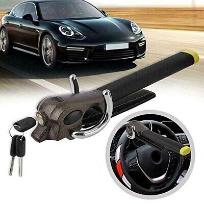 Foldable Vehicle Car Metal Steering Wheel Lock Anti Theft Airbag Security Device