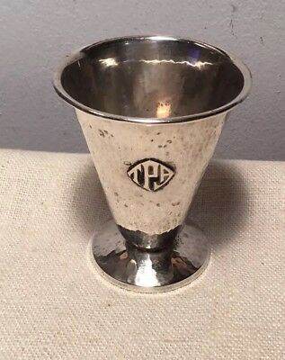 Lebolt Antique Arts & Crafts Sterling Silver Hand Hammered Small Vase