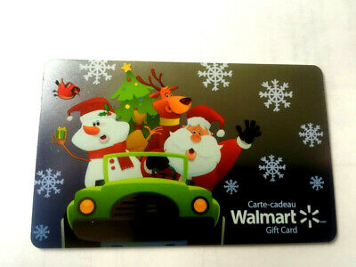 WALMART Limited Edition holiday santa car 2019 Gift Card New No Value BILINGUAL