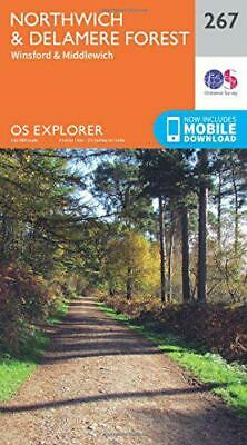 OS Explorer Map (267) Northwich and Delamere Forest by Ordnance Survey, NEW Book