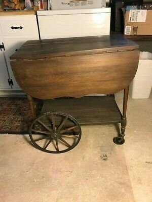 Antique Drop Leaf Tea Cart